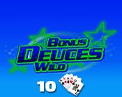 Bonus Deuces Wild 10 Hand